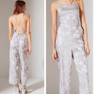 [Urban Outfitters] Lavender/Silver Satin Jumpsuit